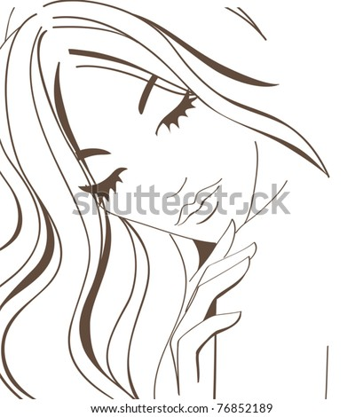 Woman (Body care) - stock vector