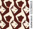 woman body parts sexy seamless pattern vector eps 10 - stock vector