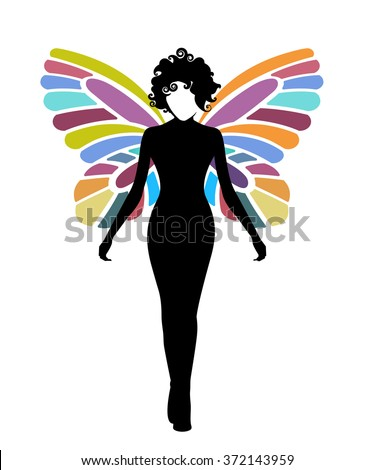 Woman butterfly  - stock vector