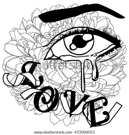 Crying Eyes Stock Royalty Free & Vectors