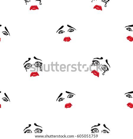 Vector Flat Style Illustration Geisha Icon Stock Vector
