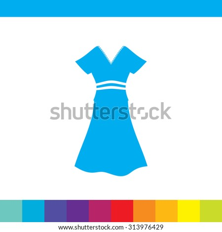 woman dress vector icon