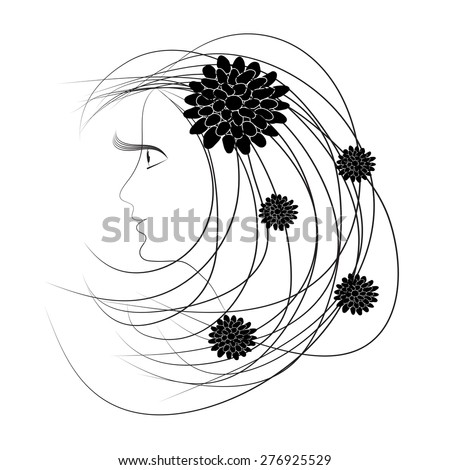 Face Silhouette Stock Images, Royalty-Free Images ...  Face Profile Silhouette Blowing