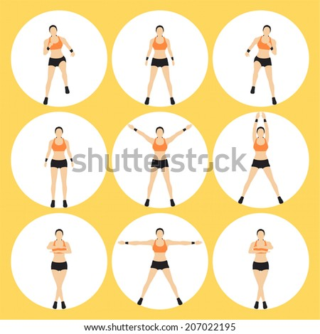 Woman Fitness Vector - stock vector