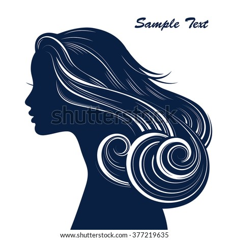 Woman Hair style Silhouette