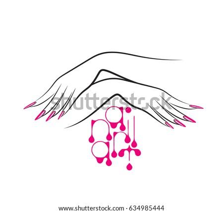 Nails Logo Vector