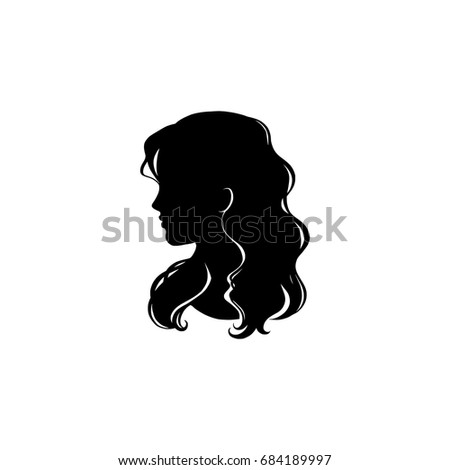 Woman Profile Head Silhouette White