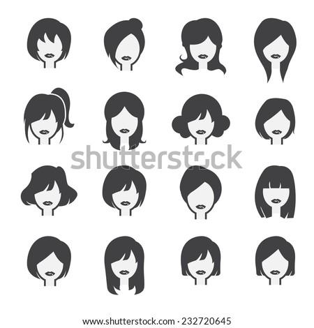 woman icon - stock vector