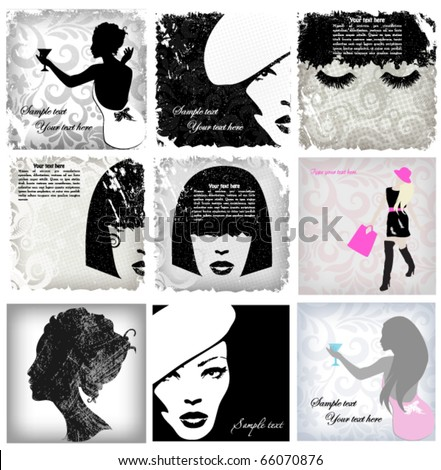 Woman image, fashion background concept - stock vector