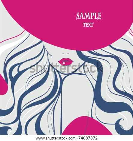 Woman in hat - stock vector