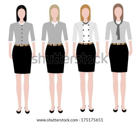 Woman in uniform design - stock vector