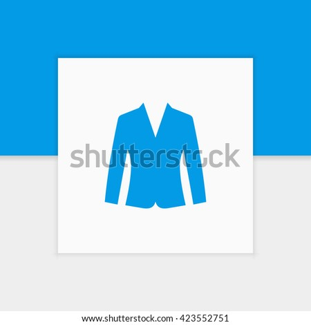 Woman jacket icon illustration isolated vector sign symbol - stock vector