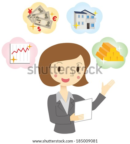 Woman of Financial Planner - stock vector