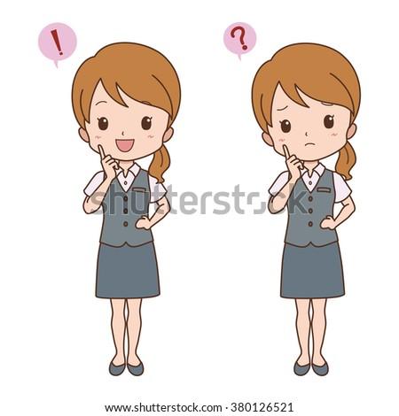 woman pose - stock vector
