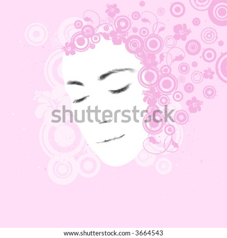 Woman's face, beauty concept