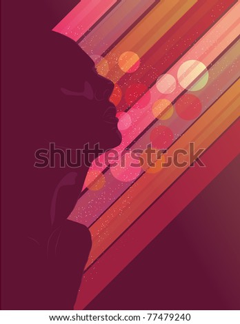 Woman's Silhouette - stock vector