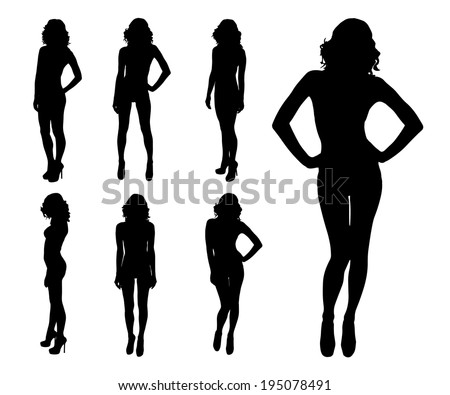 woman silhouette - stock vector