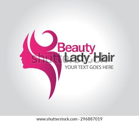 Woman silhouette logo , head, face logo isolated. Use for beauty salon, spa, cosmetics design, etc - stock vector