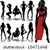 woman silhouettes 8 - stock vector