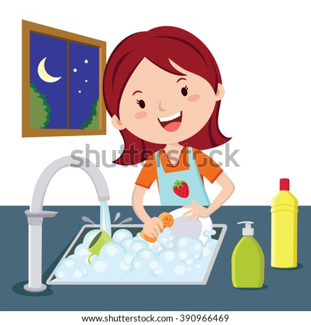 Washing Dishes Stock Images, Royalty-Free Images & Vectors ...