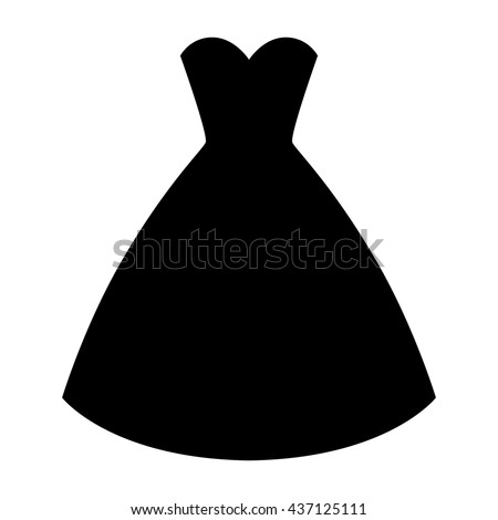 Wedding ceremony dress silhouette simple and elegant princess dress