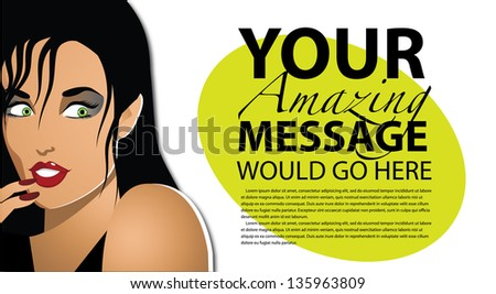 Woman with a secret. EPS 10 vector, grouped for easy editing. No open shapes or paths. - stock vector
