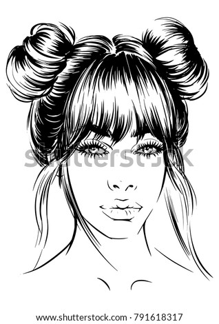 Anime Drawing Short Hair Double Bun Www Picturesso Com