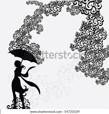 Man And Woman Under Umbrella Silhouette Woman With Umbrella Silhouette