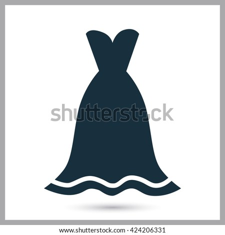 Women dress icon on the background - stock vector