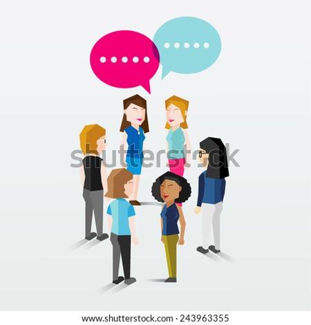 Women Gathering Vector Design - stock vector