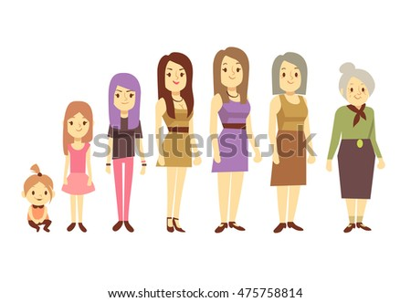 nude females of different ages