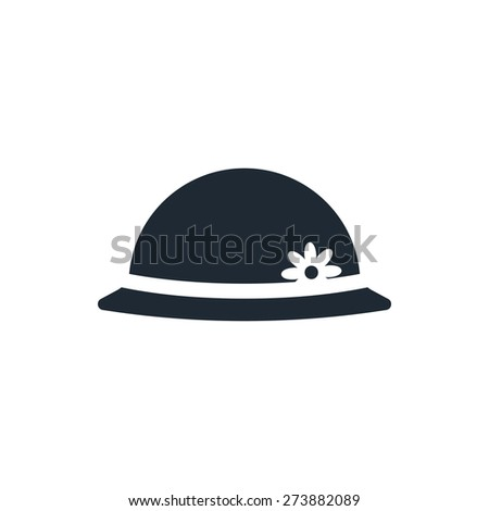 women hipster hat icon - stock vector