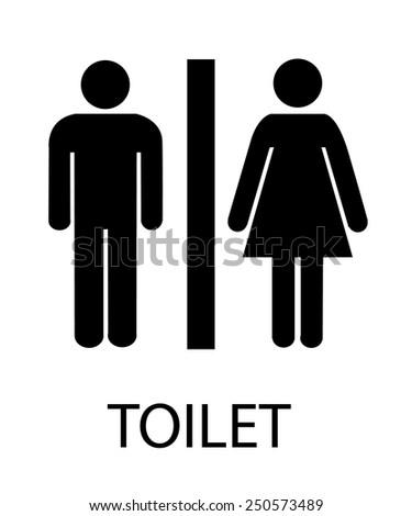 Women's and Men's Toilets  - stock vector