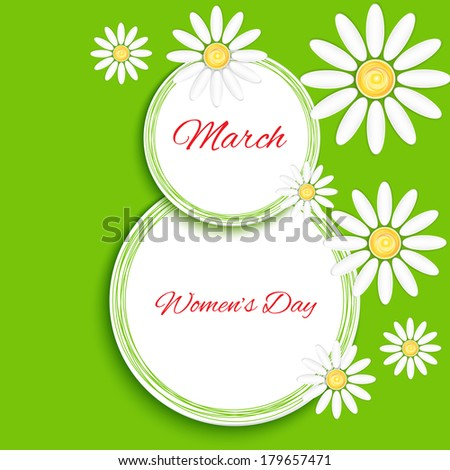 Women's Day celebrations concept with text 8th March