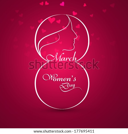 Women's day stylish element for colorful background vector illustration - stock vector