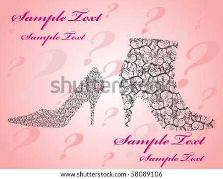 Women shoe - stock vector
