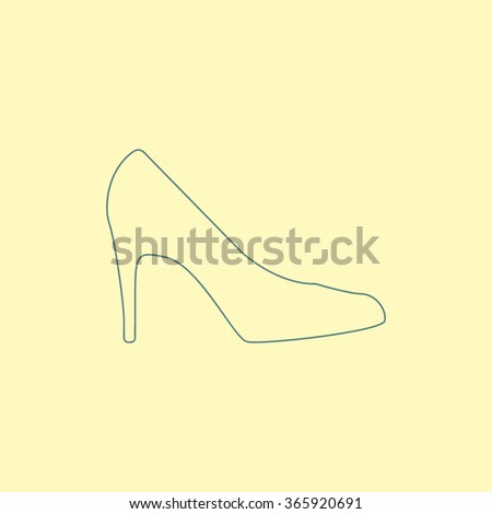 Women shoe line icon