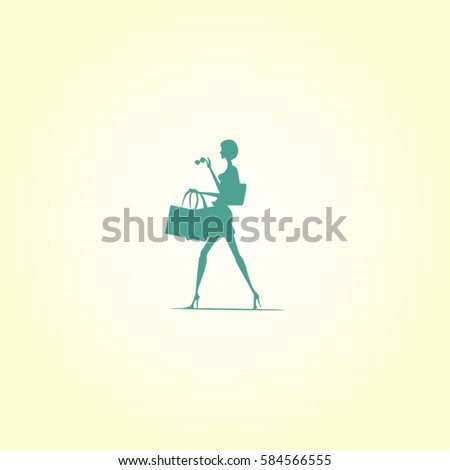 Women Shopping Logo Template