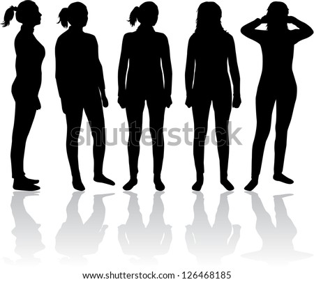 Women silhouette - stock vector