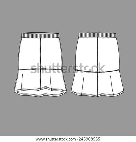 Women skirt. Vector - stock vector