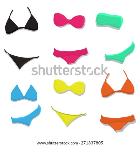 Women Swimsuit Summer Clothes - stock vector