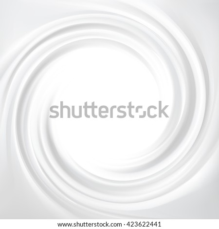 Wonderful aqua luxury grey modern fond of soft shiny rippled curvy surface. Closeup view with space for text in glowing center in middle of funnel  - stock vector