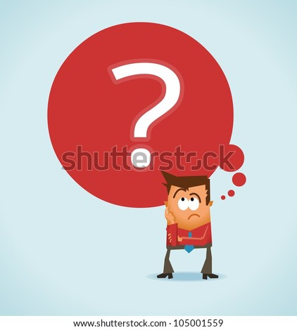 Wondering and uncertainty. Vector illustration - stock vector