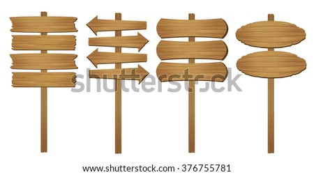 Wood board. Vector illustration. - stock vector