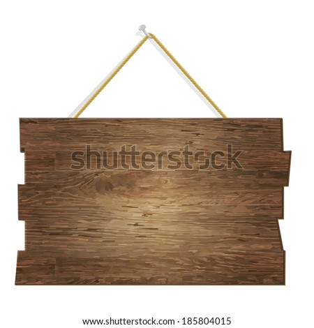 Wood Board, With Gradient Mesh, Vector Illustration - stock vector