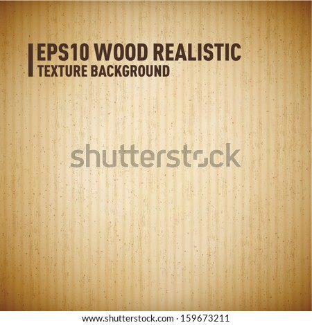 Wood - cardboard realistic background, vector - stock vector