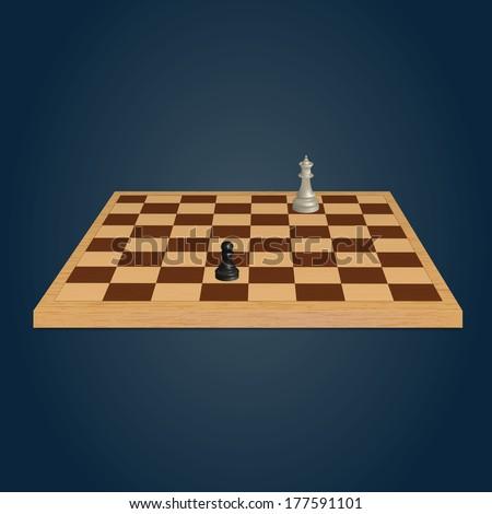 Wood chessboard. Vector illustration - stock vector