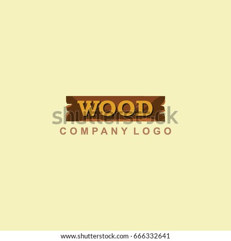 Wood Company Logo Vector Template