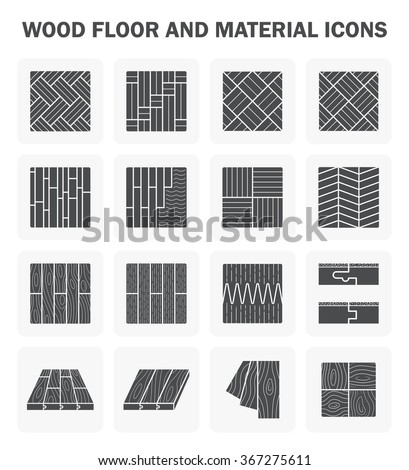 Wood floor and material icon sets design. - stock vector