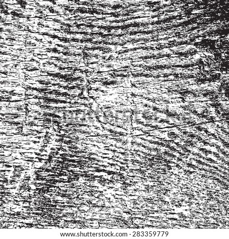 Wood grunge grainy overlay texture for your design. EPS10 vector. - stock vector
